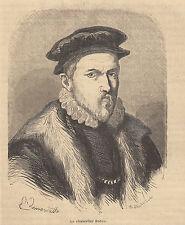 Sir Francis Bacon 1864 xilografia