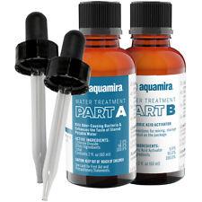 Aquamira tratamiento de purificación de agua y de almacenamiento de información 2 onzas de botellas de vidrio con goteros