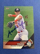2017 Peoria Chiefs Andy Young RC Auto Signed Autograph Cardinals