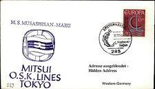 JAPAN Schiff Seepost MUSASHISAN MARU 1966 BREMERHAVEN Seepost Shipletter Ship