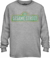 Sesame Street Logo Sign Adult Tee Graphic T-Shirt for Men Tshirt Long Sleeve