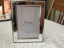 """NEW Beltrami  4"""" x 6"""" Silver Plated Picture Frame Made In Italy Hammered"""