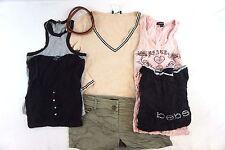 Bebe Women's Lot of 7 Tops/ Shorts/ Belt Small S CG15255