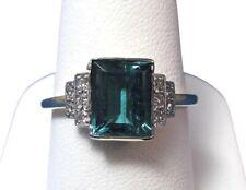 Vintage Art Deco 1920's Tourmaline & White CZ Vintage Engagement Wedding Ring