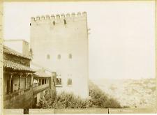 Linares. Espagne, Granada, Alhambra, Torre de Comares  Vintage print.  Tirage