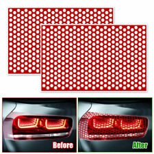 2x Car Rear Tail Light Honeycomb Sticker Universal Taillight Lamp Cover Decal