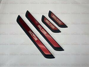 For Kia Seltos Accessories Door Sill Scuff Plate Trim Rear Bumper Cover Sticker