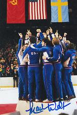 1980 USA Mark Wells OLYMPIC GOLD HOCKEY SIGNED PHOTO 4x6 AUTOGRAPHED