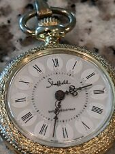 One Jewel Decorated White Dial Sheffield Original Swiss Movement Pendent Watch