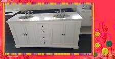 French Provincial Rustic Bathroom Vanity Frances1800 White Marble or Granite Top