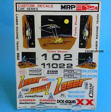 Vintage MRP Custom Decal Sticker Sheet LASER 1-2713 RC Part