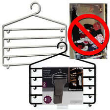 Space Saving Clothes Hangers Trouser Skirt Scarf Storage Organiser Hook Wardrobe