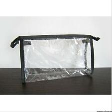 TRAVEL CLEAR BAG AIRPORT LIQUID TRANSPARENT TOILETRIES POUCH MAKE UP COSMETIC