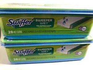 2 PK-Swiffer Wet Sweeper Febreze Lavender Vanilla Comfort Scent Mop Pad Refills