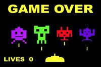 Game Over Throwback Retro Arcade Game Video Gaming Poster 24x36 inch