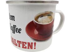 Vor dem ersten Kaffee XXL Blechtasse Emaille Becher Tasse 9 x 9 cm 500 ml