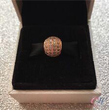 chapado en Oro Rosa Cristal Transparente Pavé Colgante para Colgante pulsera