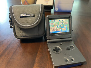 Nintendo Game Boy Advance SP Graphite SystemAGS-101 (brighter Backlit Screen!)
