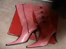 Roberto Vianni pink leather boots size 40