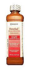 FeroSul Ferrous Sulfate Elixir 220mg/5ml 16oz