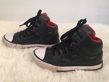 Converse All Star Chuck Taylor Mid Junior Kids Size 11 Leather High Street Storm