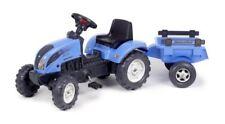 GUT: Falk Kindertraktor Trettraktor Landini blau mit Anhänger ab 2 Jahren
