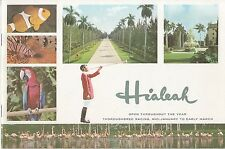 Hialeah Thoroughbred Racing Florida FL Vintage Booklet Horse Racing Weiss Litho