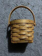 "Vintage Longaberger Small Square Basket 4.5"" x 5.5"" 2001 Signed ""Db�"
