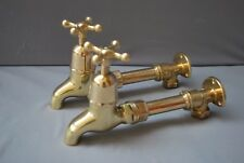BRASS TAPS WALL MOUNTED KITCHEN TAPS RECLAIMED FULLY REFURBISHED TAPS