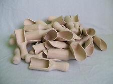 "25 x Wooden Scoop Sugar, Salt, Herbs, Bath Salt 10cm  ( 4"" )"