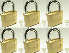 Lock, Brass, Master, Combination #175 (Lot 6) 4 Dial Resettable High Security