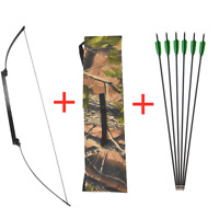 Archery 30-40lbs Recurve Foldable Bow Carbon Arrows Takedown Target Hunting