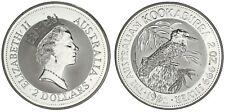 2 SILVER DOLLARS-2 DÓLARES PLATA. AUSTRALIA 1992. KOOKABURRA. UNC/SC.