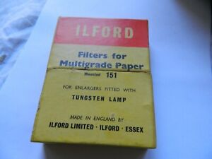 Vintage Ilford Enlarger  Filters in Box
