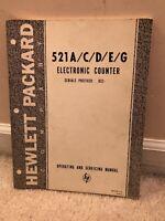 Hewlett packard company 521a/c/d/e/g Electronic Counter manual