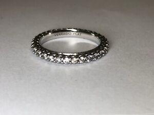 Designer Verragio Platinum Diamond Wedding Eterna Band 1.00 Ct Size 7.5