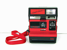 MINT POLAROID COOL CAM 600 RED & BLACK INSTANT CAMERA WITH STRAP COOLCAM RETRO