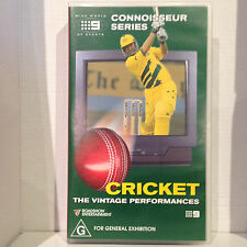 CRICKET - THE VINTAGE PERFORMANCES ~ CONNOISSEUR SERIES ~ RARE AS NEW VHS VIDEO
