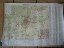 militärischer Stadtplan von Landau mit UTM Gitter u. Straßennamenverzeichnis