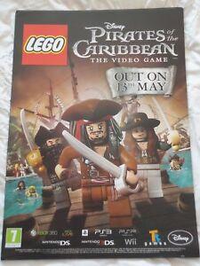 LEGO DISNEY PIRATES OF CARIBBEAN VIDEOGAME UK PROMO POSTER new