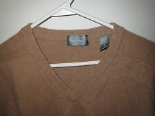 Lord & Taylor Beige Mens Lambswool V Neck Sweater XL, Excellent Condition