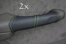 FITS CHRYSLER PT CRUISER 2X DOOR HANDLE green stitch COVERS