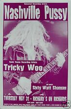 Nashville Pussy / Tricky Woo 2001 Vancouver Concert Tour Poster - Southern Metal