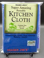 Trader Joes Super Absorbent REUSABLE KITCHEN CLOTH Eco Friendly 2 Wash Towels🌺