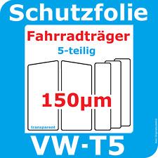 Fahrradträger Lackschutzfolie VW T5 ab 2003 + Facelift ab 2009 - 2015