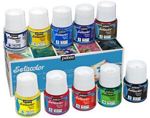 Pebeo Setacolor Opaque Iron Fix Fabric Paint Assorted Colours 10 x 45ml Box Set