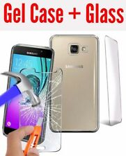 Glossy TPU Gel Case Cover for Samsung Galaxy J5 (6) 2016 + Glass protectorer
