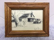 R Don Hutchins The Vanishing America Wood Frame Signed