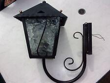 Applique Murale Lampe Extérieur en Fer et Verre Flouté