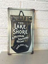 Lakeshore & Michigan Southern  Railroad Logo Aluminum Sign New Pre NY Central